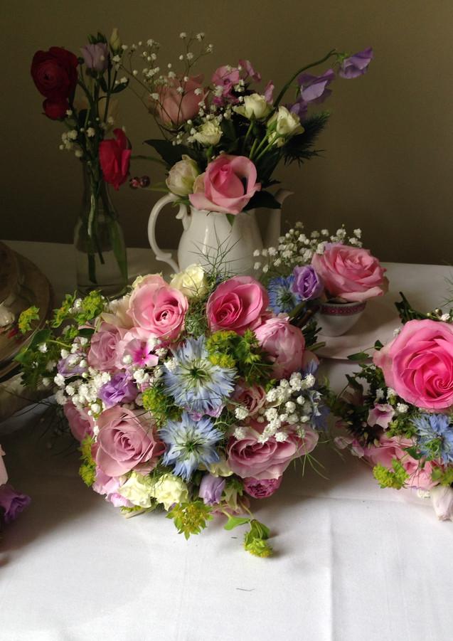 Vintage pink bouquets