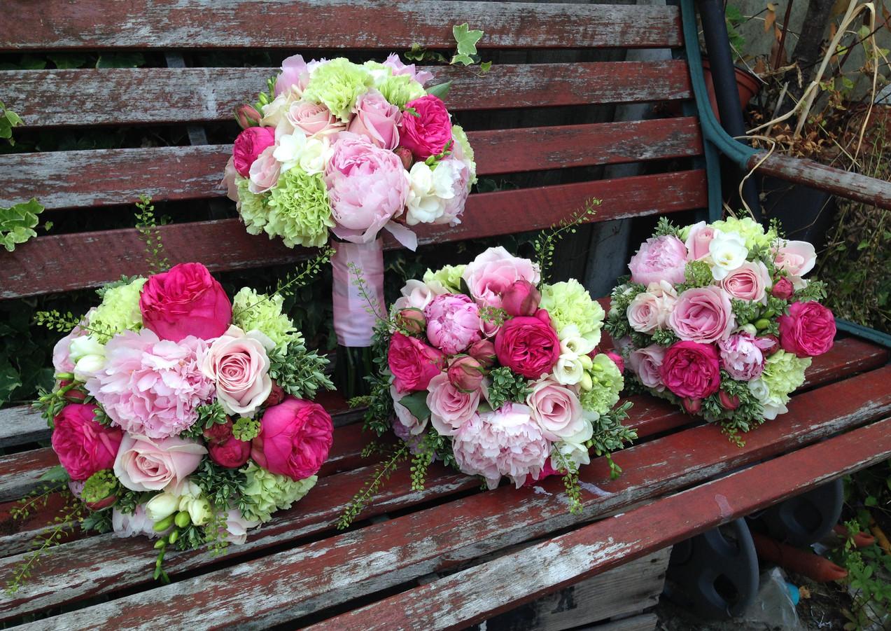 Peony pink bouquet