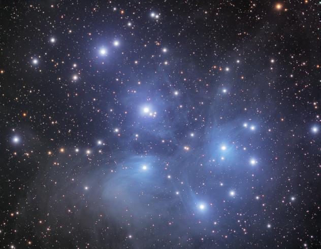 M45 - Les 7 Sœurs (amas ouvert des Pléiades)
