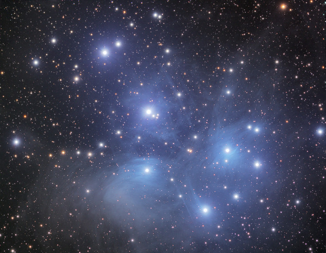 M45 - The 7 Sisters (open cluster of Pleiades)