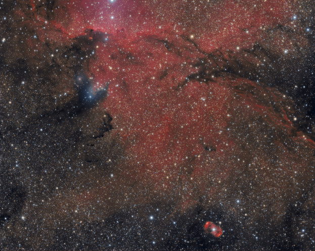NGC 6188 - The fighting Dragons of Ara (version HaLRGB)