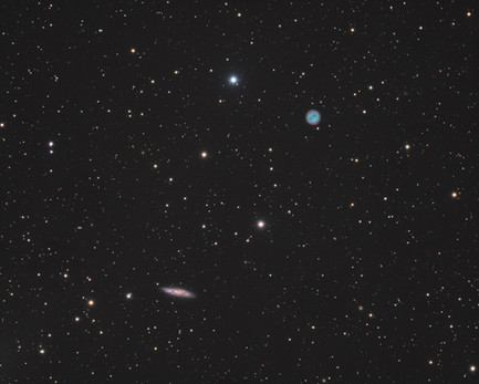 M97 & M108 - The Owl Nebula and the Surfboard Galaxy