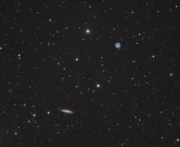 M97 & M108 - Nébuleuse planétaire du Hibou et Galaxie de la Planche de Surf