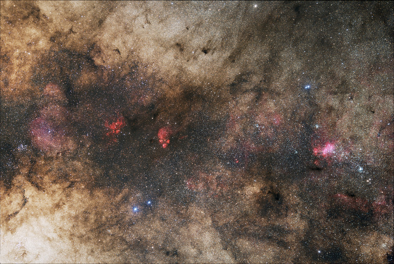 Region of the Cat's Paw Nebula