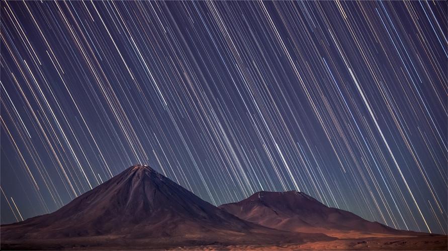Pluie d'étoiles sur le Licancabur