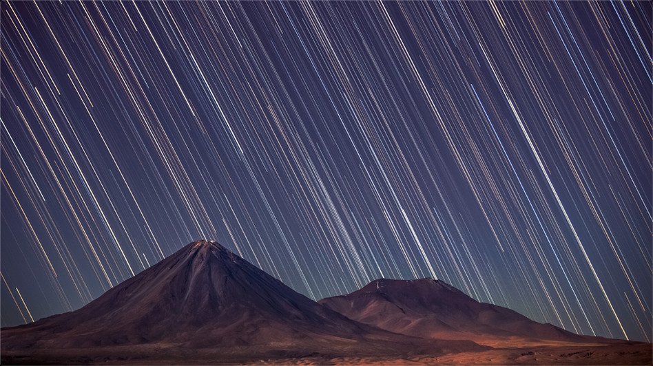 Rain of stars on the Licancabur