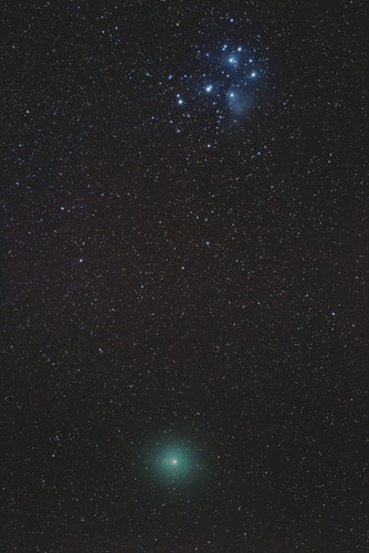 Comet 46P / Wirtanen and the Pleiades