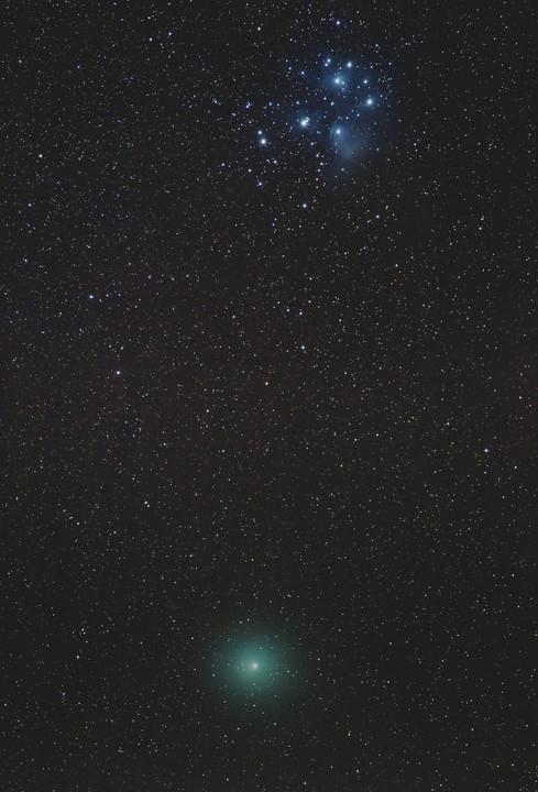 Comète 46P/Wirtanen et les Pléiades