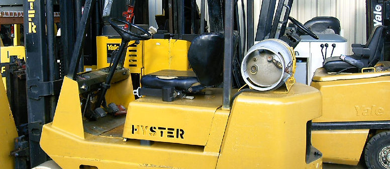 forklift service, used forklift, blue safety light installation