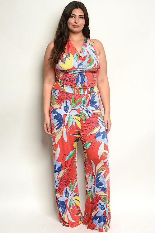 Multi Color Plus Size Jumpsuit