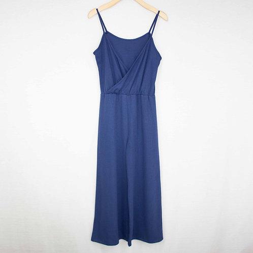 Front Wrap Jumpsuit Blue