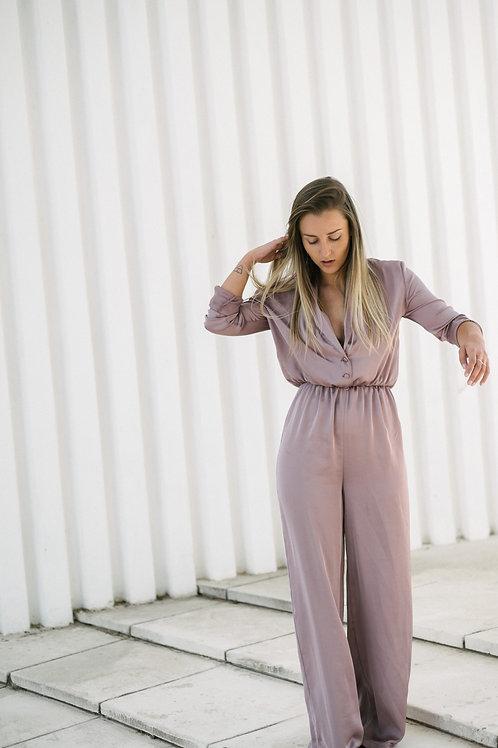 Pink Silk Jumpsuit