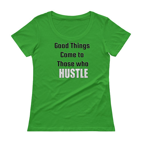 Ladies' Scoopneck T-Shirt- Hustle