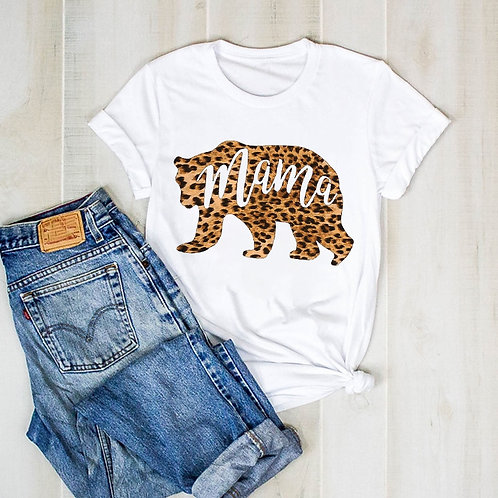 Leopard Mama Bear Graphic T