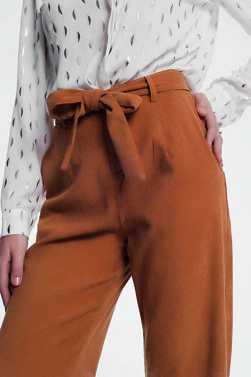 High Waisted Camel Coloured Pants
