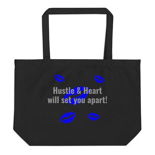 Large tote bag Hustle & Heart