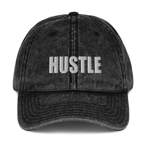 Vintage Cotton Twill Cap- Hustle