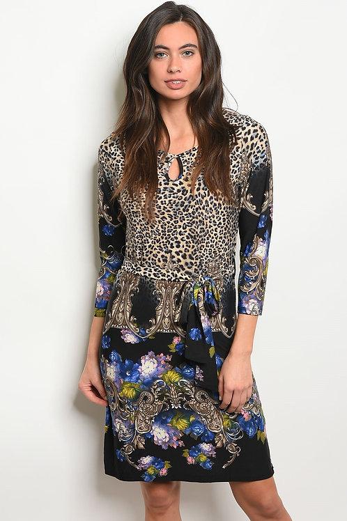 Womens-Cheetah Print Dress