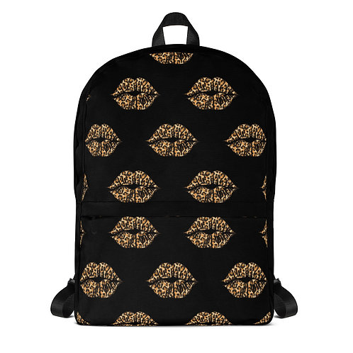 Backpack- Cheetah lips