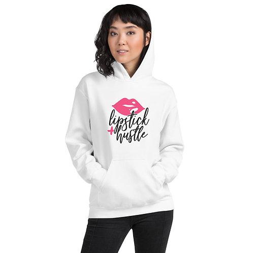 Unisex Hoodie- Lipstick + Hustle