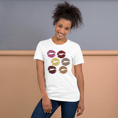 Short-Sleeve Unisex T-Shirt- Lips Multi Color