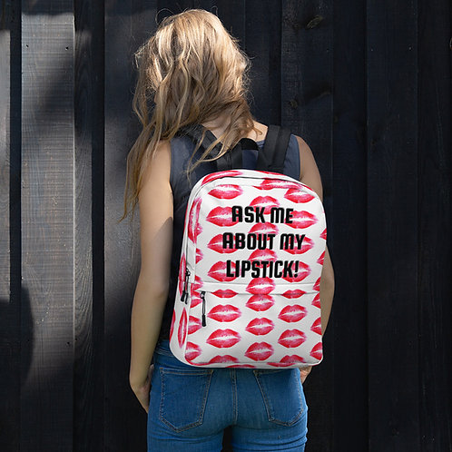 Backpack- RED LIPS