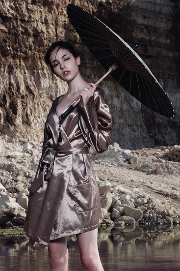Silk kimono-dress