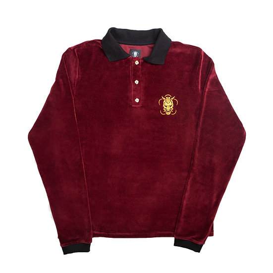 Velour Polo-shirt