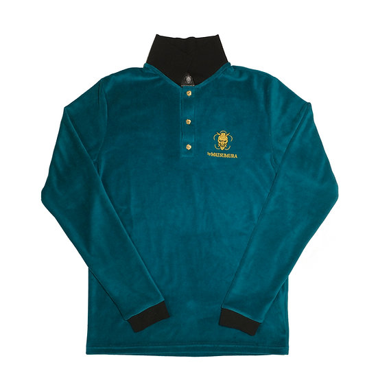 Emerald Velour Polo-shirt