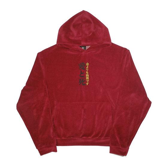 Red Velour Hoodie
