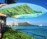 Double visions of this diamond head scen