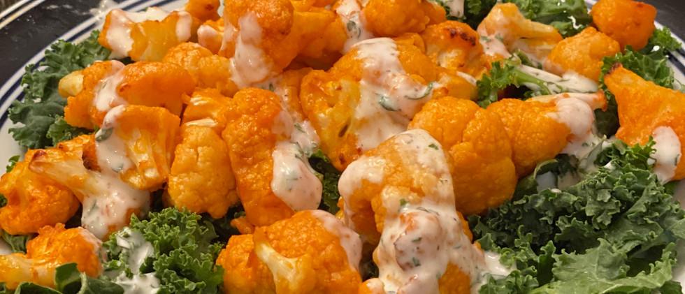 Buffalo Cauliflower Salad