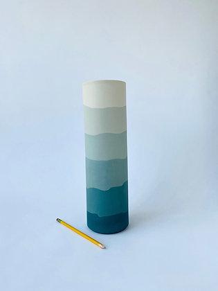 Sea Green Ridge Vase