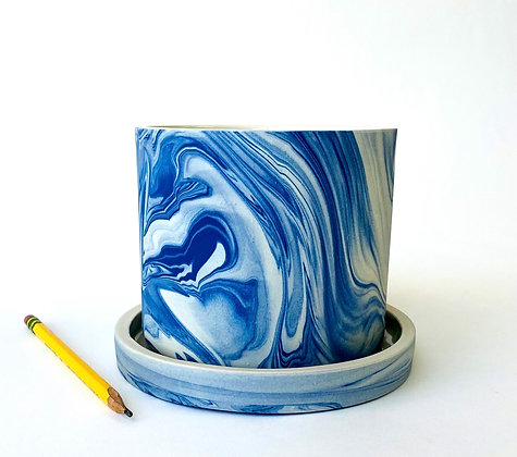 Blue Marbled Planter