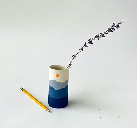 Short Blue Ridge Bud Vase