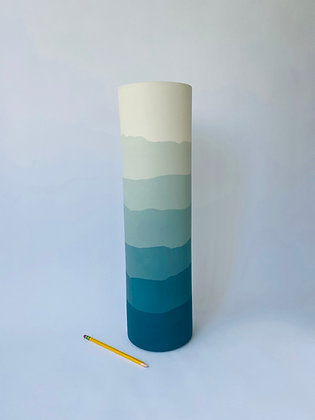 Sea Green Ridge Vase