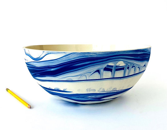 Mazerine Marbled Big Bowl