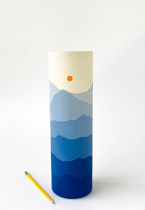 Blue Ridge Sunset Vase