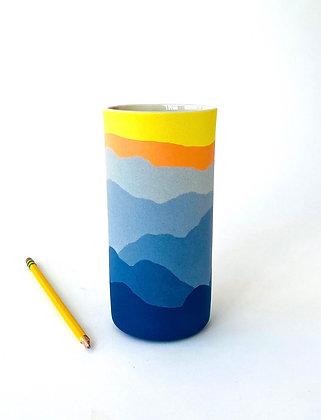 "Blue Ridge Vase 7"""