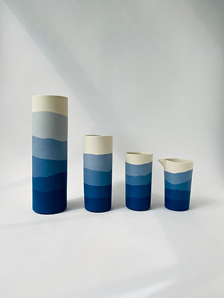 Set of Mazerine Ridge Vases
