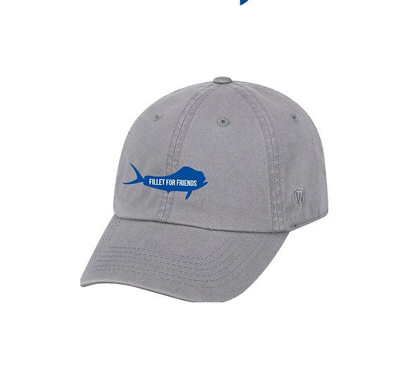 FFF Grey Premium Embroidered Adult Crew Cap