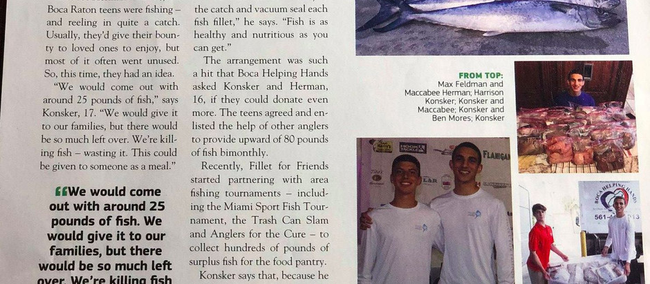Reel Generosity: Teen Anglers Provide Surplus Fish to the Needy Through Fillet for Friends