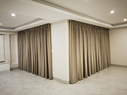 Habitat fabrics with pinch pleat