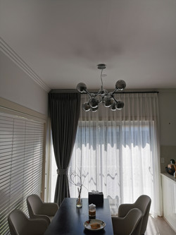 Mikado ash curtain, bali pearl sheer