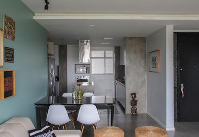 bancada em concreto, cozinha em cimento