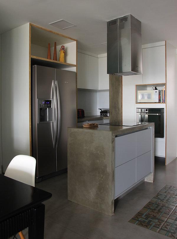 cozinha concreto cimento