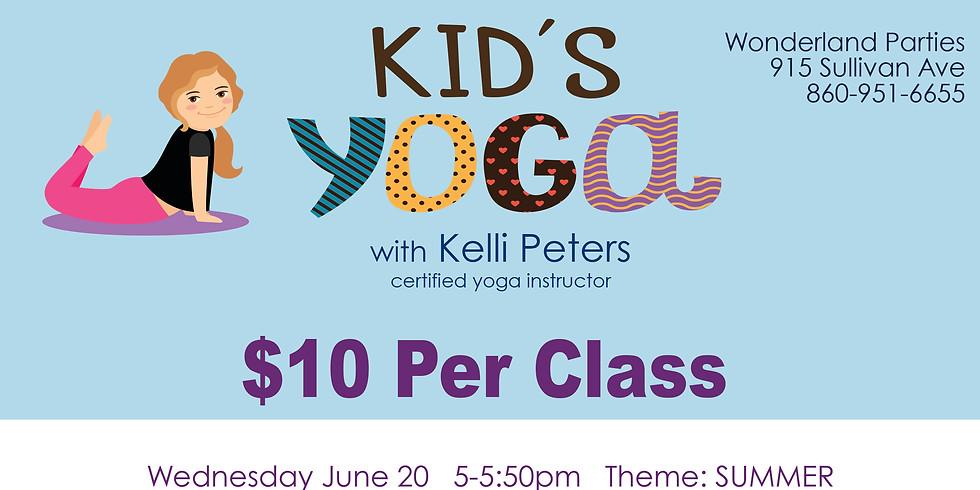 August 22 Kids Yoga