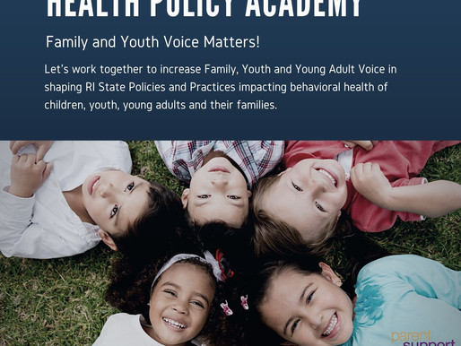 Make sure your voice on Children's Behavioral Health is heard on RI State Policy
