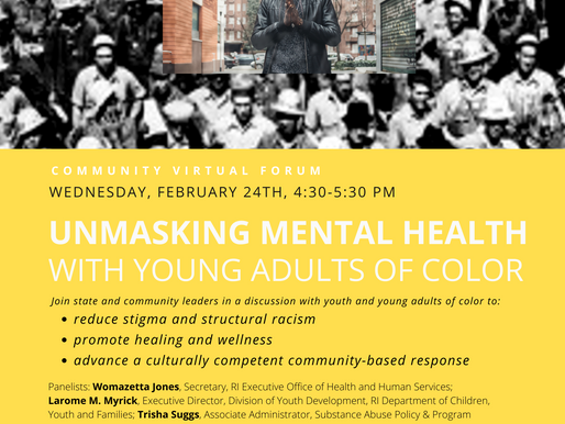 Virtual Forum: Unmasking Mental Health with Youth & Young Adults of Color - Feb 24th