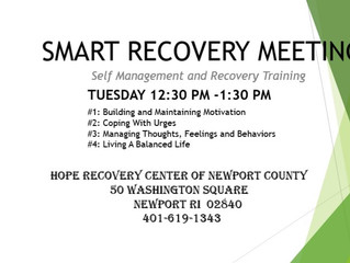 Smart Recovery starts 1/14/2020